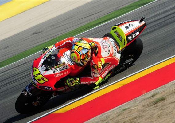 Rossi na novém rámu Ducati