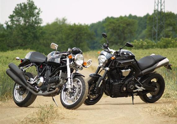 Co mají společného Ducati Sport 1000 aYamaha MT-01?