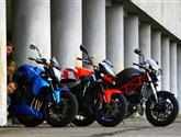 Pohání je motory zMS superbiků -test Aprilie Tuono, Ducati Monster S4R aYamahy FZ1