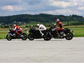 Rychlostní souboj tří nejsilnějších -BMW S1000 RR vs. Kawa ZZR1400 vs. Yamaha Vmax