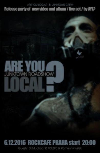 Are You Local? - plakát křest v Rock Café