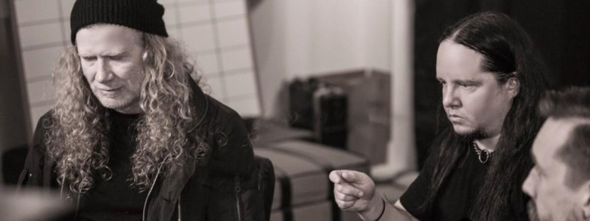 Joey Jordison je ve studiu s Davem Mustainem