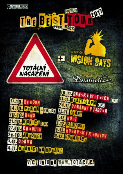Totální nasazení - plakát - tour