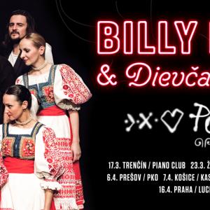 Slovenská kapela Billy Barman a děvčata ze S'LUKu mají společné turné, v Čechách budou v druhé polovině dubna