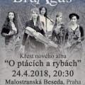 BraAgas - křest desky - Malostranská Beseda - plakát