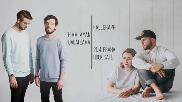 Fallgrapp a Himalayan Dalai Lama - plakát duben 2018 Rock Café