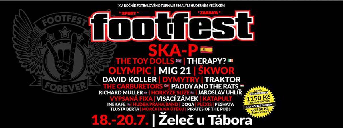 Na Footfestu v Želči u Tábora vystoupí Therapy? nebo Ska-P