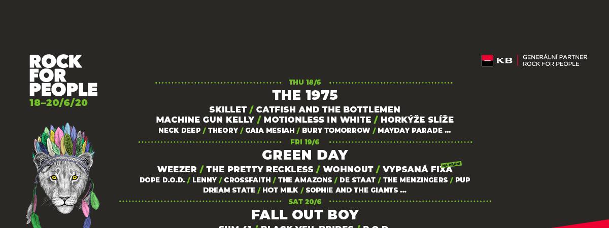 Festival Rock for People hlásí poprvé v historii vyprodáno