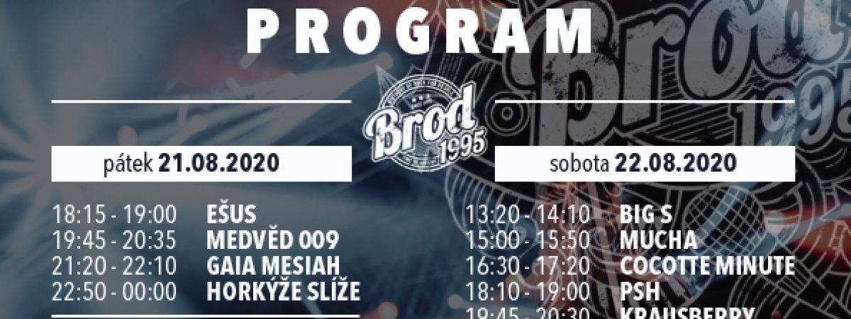 Festival Brod 1995 nabídne v srpnu kromě Horkýže slíže nebo PSH i Live Jukebox či Silent Párty