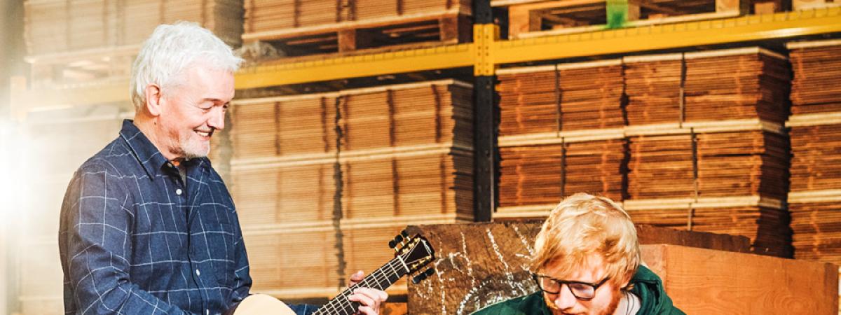 Ed Sheeran uvádí na trh vlastní kytary