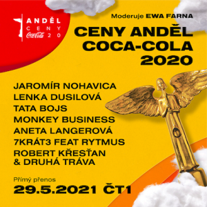 Ceny Anděl Coca-Cola 2020: Předáváním provede Ewa Farna, zahrají Lenka Dusilová, Jaromír Nohavica i 7krát3 s Rytmusem