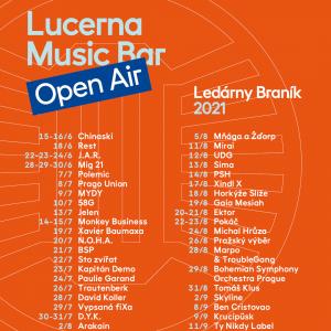 LUCERNA MUSIC BAR OPEN AIR startuje už příští týden