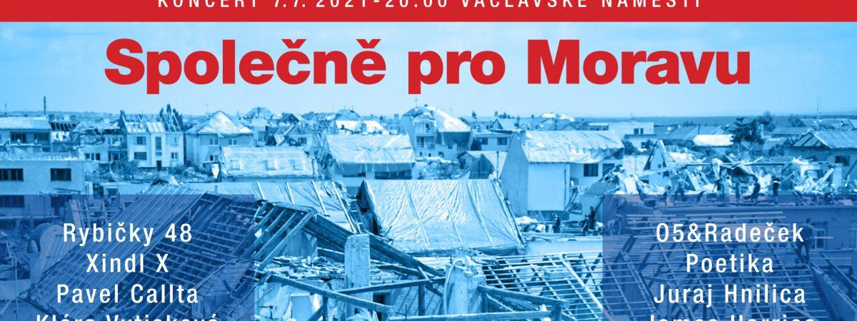 Na Václavském náměstí se uskuteční benefiční koncert Společně pro Moravu